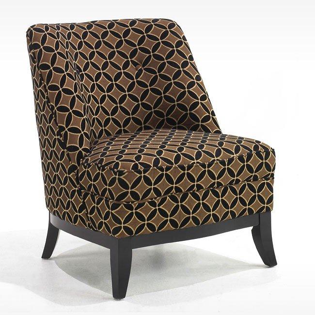 Jester Armless Chocolate Fabric Club Chair Armen Living