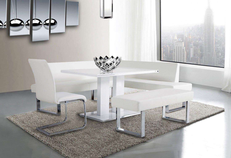 Amanda Corner Dining Room Set W/ Bench Armen Living ...