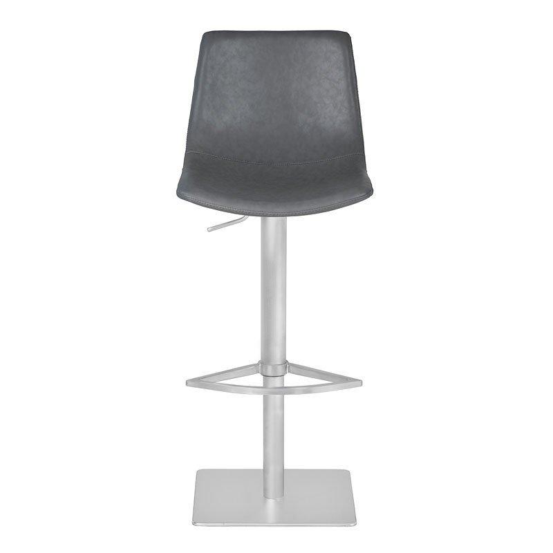 Peachy Attica Adjustable Swivel Metal Barstool Vintage Gray Lamtechconsult Wood Chair Design Ideas Lamtechconsultcom