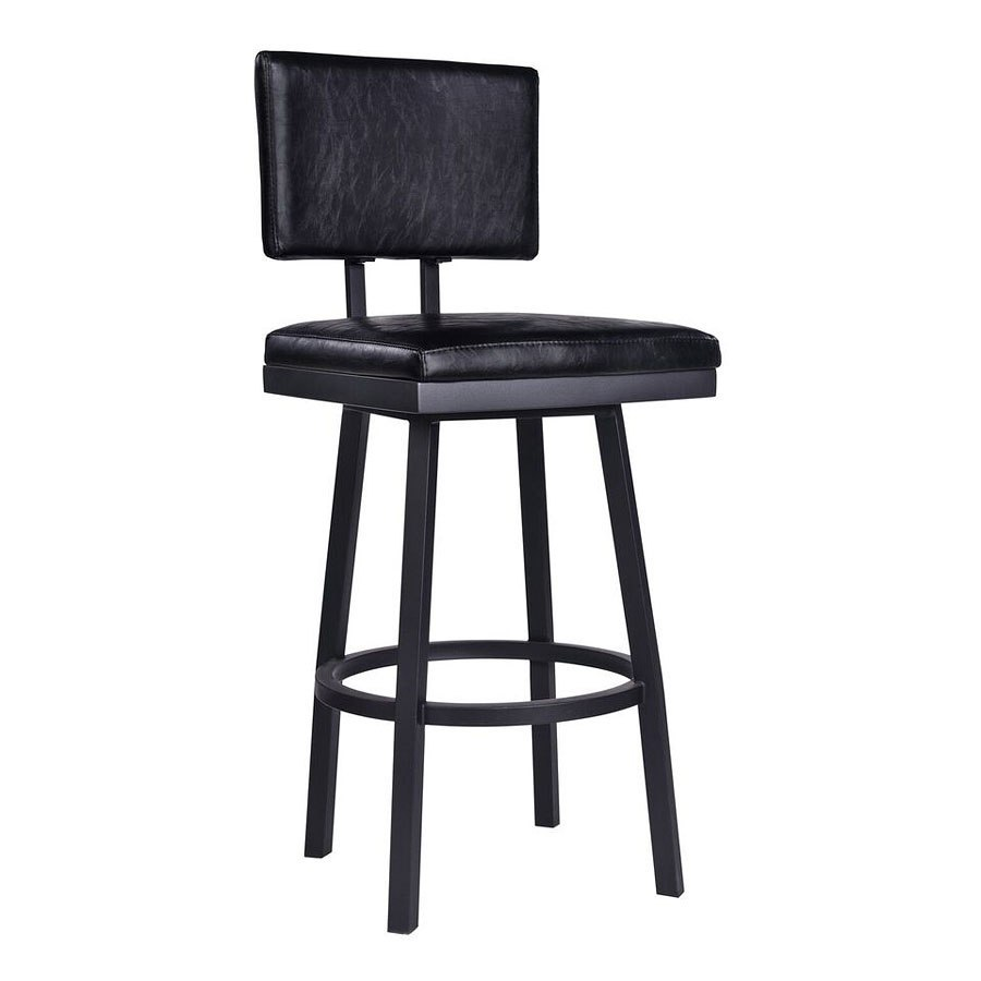Balboa Counter Height Stool Black Armen Living