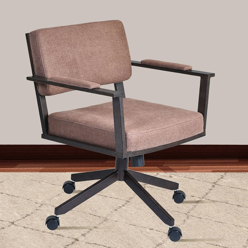 Kitchen Chairs With Casters: Cairo Director Tilt Caster Swivel Arm Chair (Brown) Armen