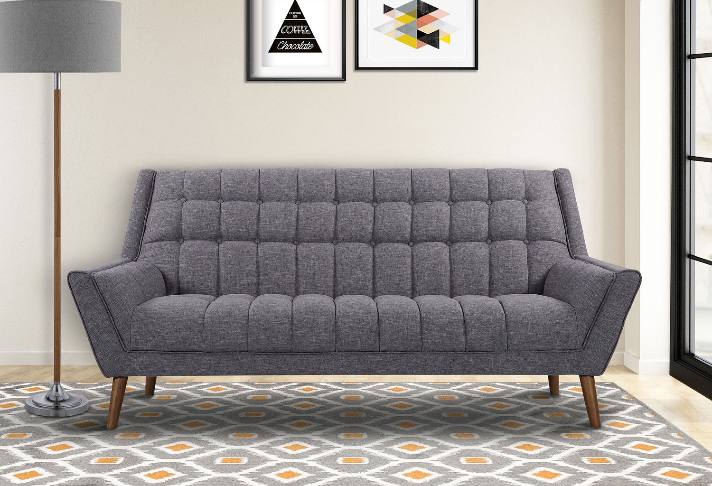 Cobra Living Room Set (Dark Gray) Armen Living