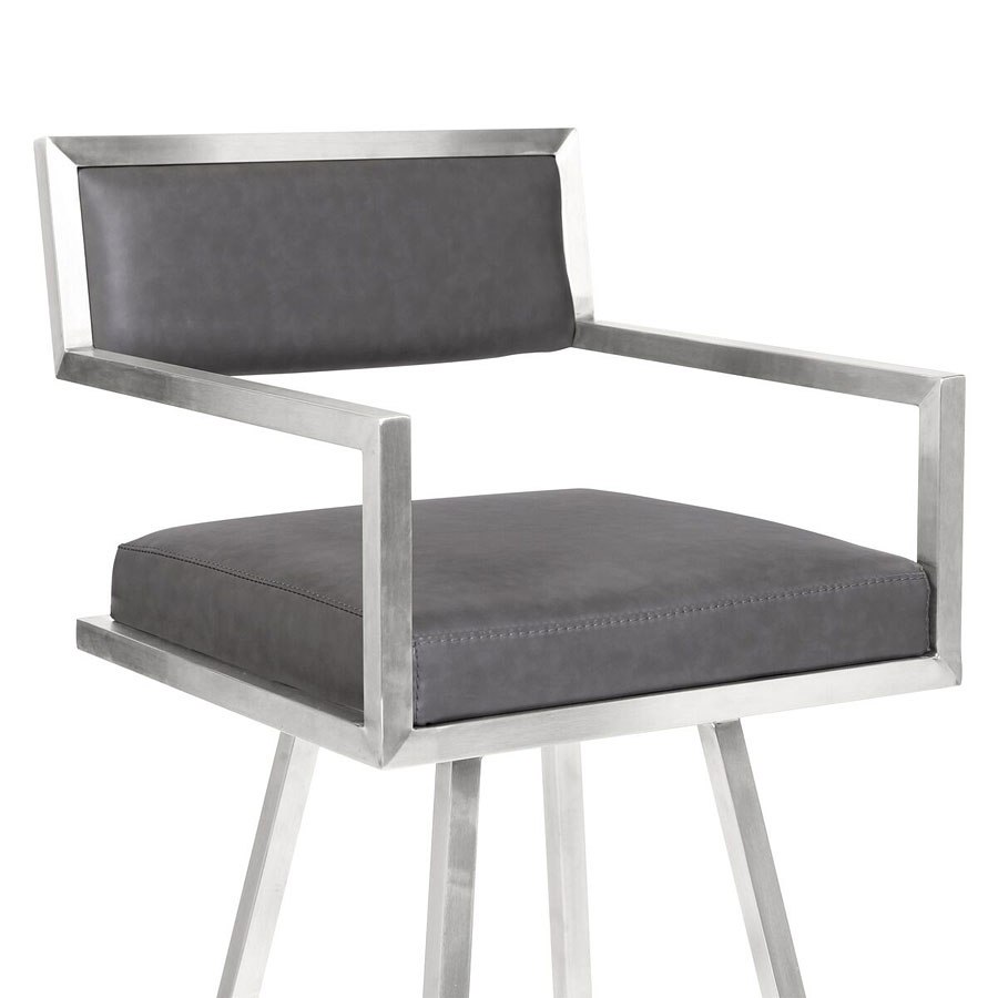 Dylan Counter Height Stool Gray Armen Living Furniture