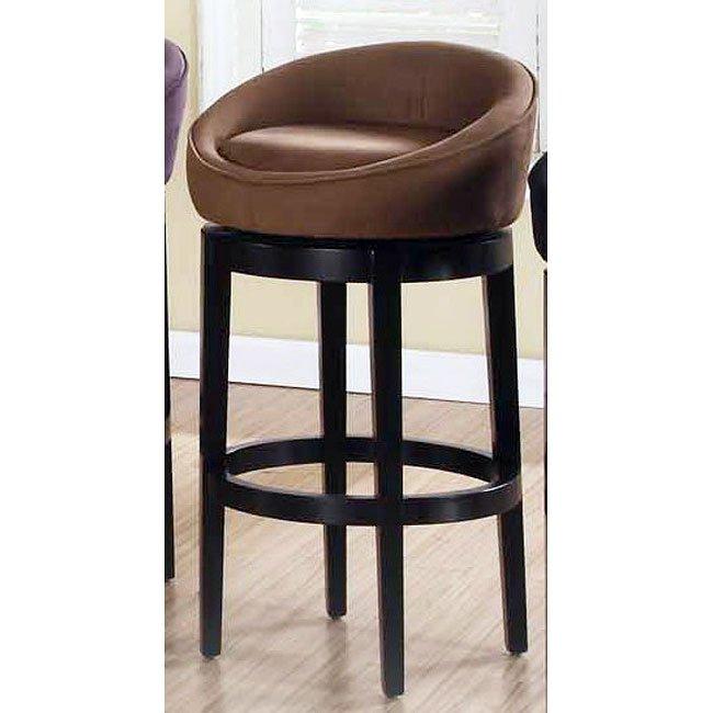 Sensational Igloo Brown Microfiber 30 Inch Swivel Barstool Dailytribune Chair Design For Home Dailytribuneorg