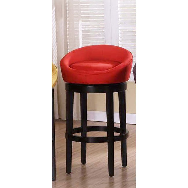 Igloo Red Microfiber 30 Inch Swivel Barstool Armen Living
