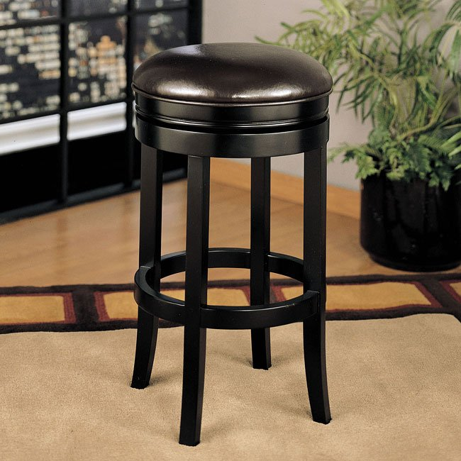 404 Series 30 Inch Backless Swivel Barstool Brown