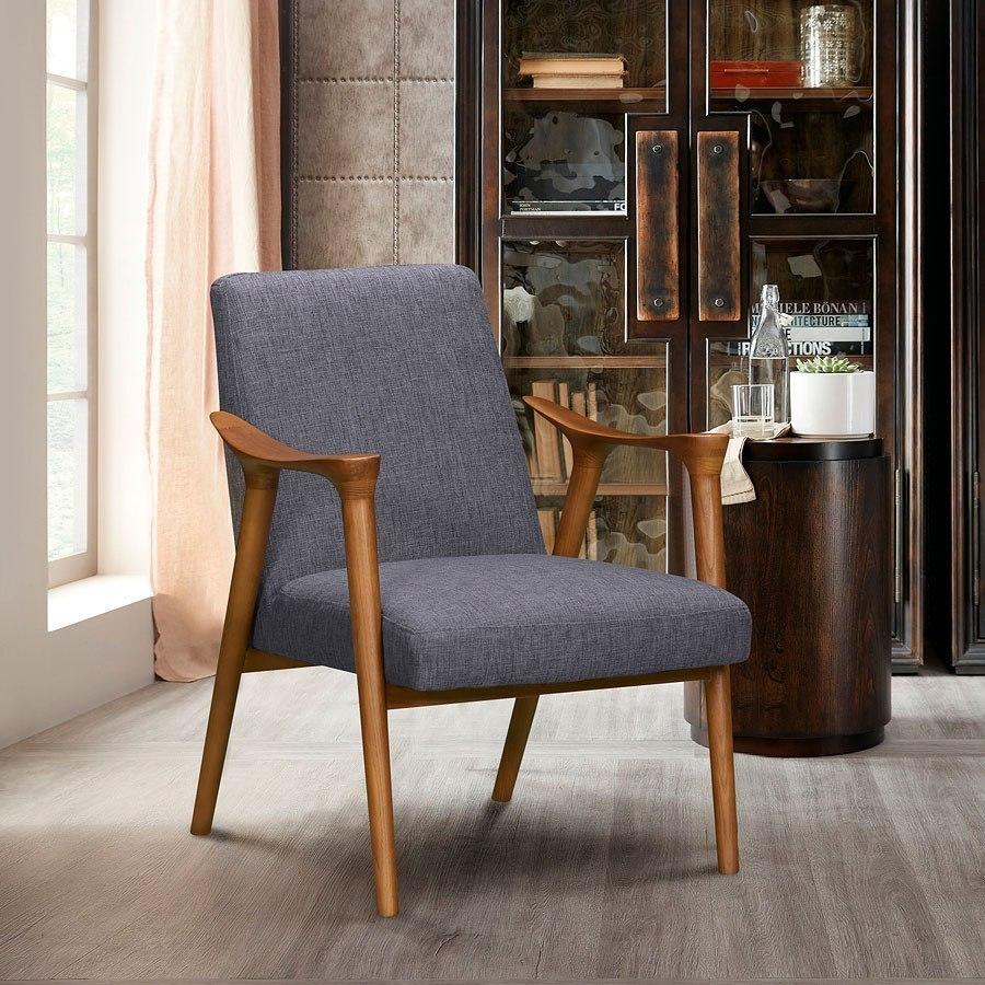 Nathan Accent Chair (Dark Gray) Armen Living