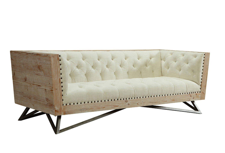 Regis Cream Sofa By Armen Living