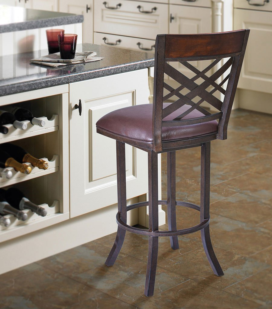 Tahiti Counter Height Swivel Barstool Armen Living