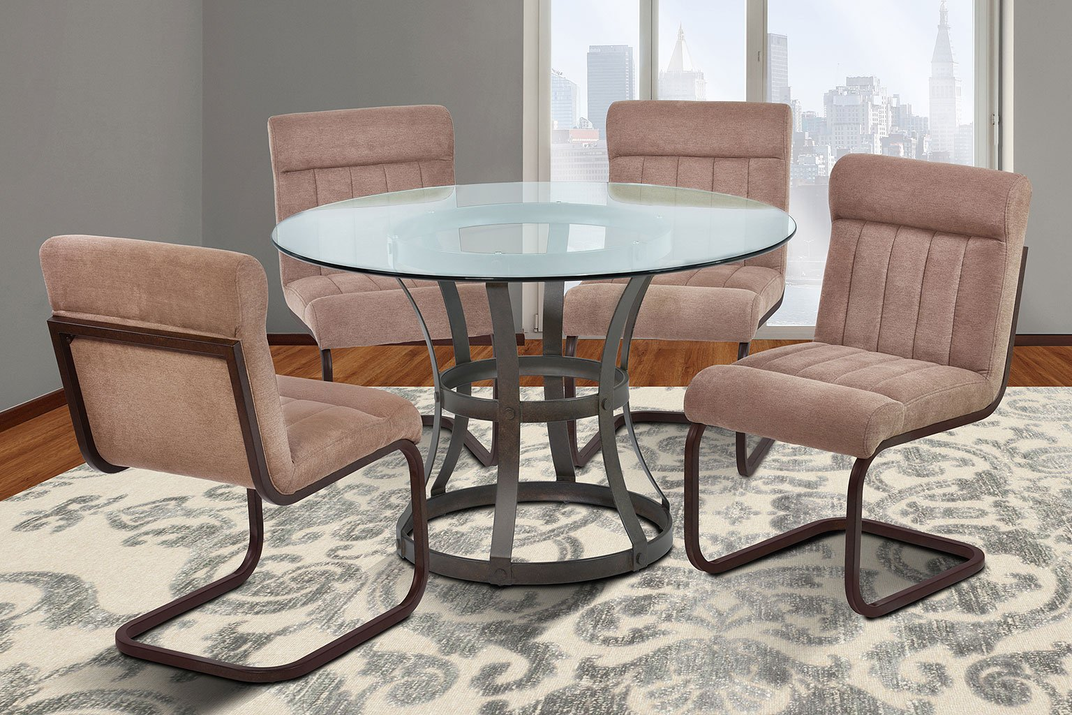 Dining Room Furniture Vancouver: Vancouver Dining Room Set W/ Brown Side Chairs (Auburn Bay