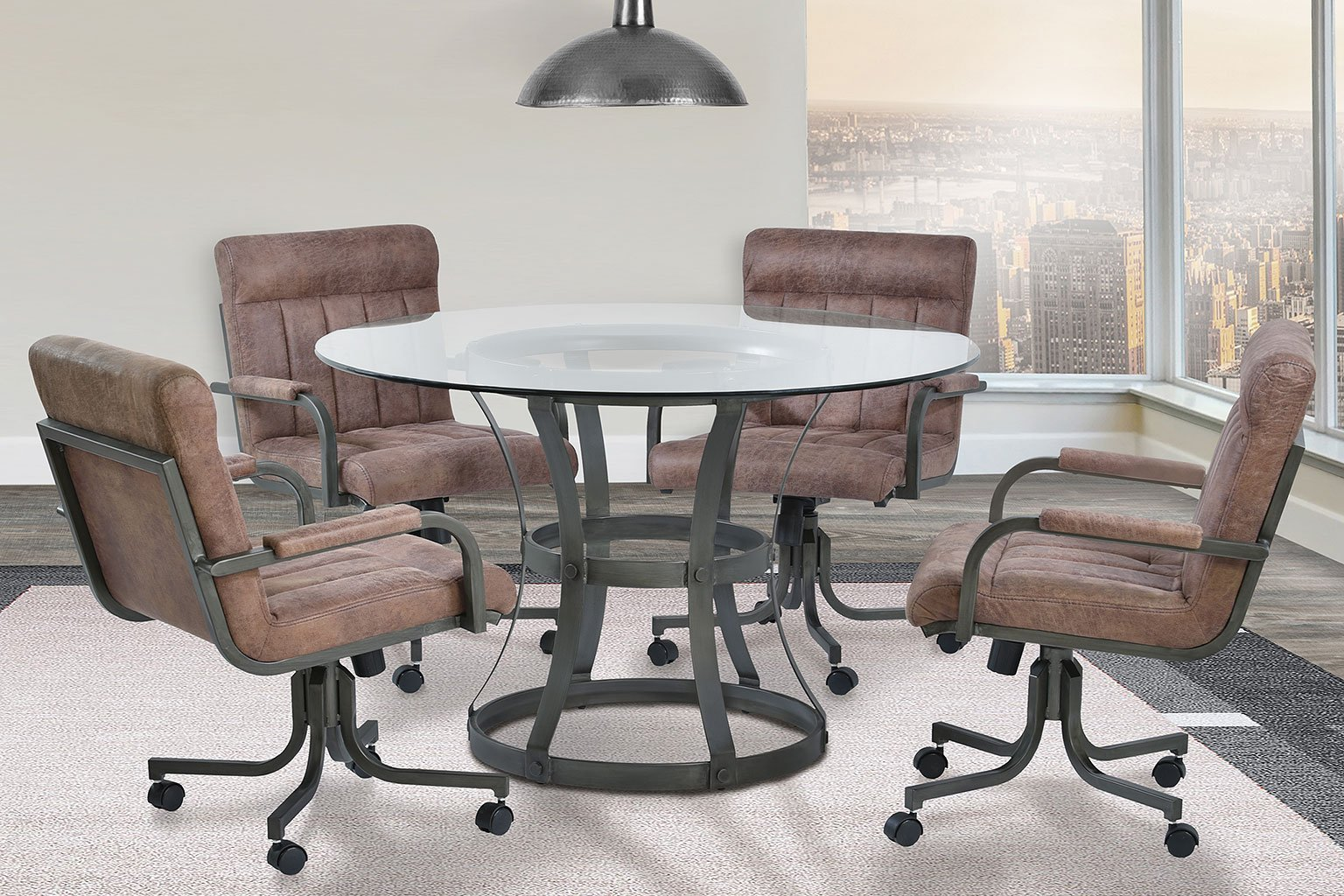 Dining Room Furniture Vancouver: Vancouver Dining Room Set W/ Tobacco Chairs (Mineral