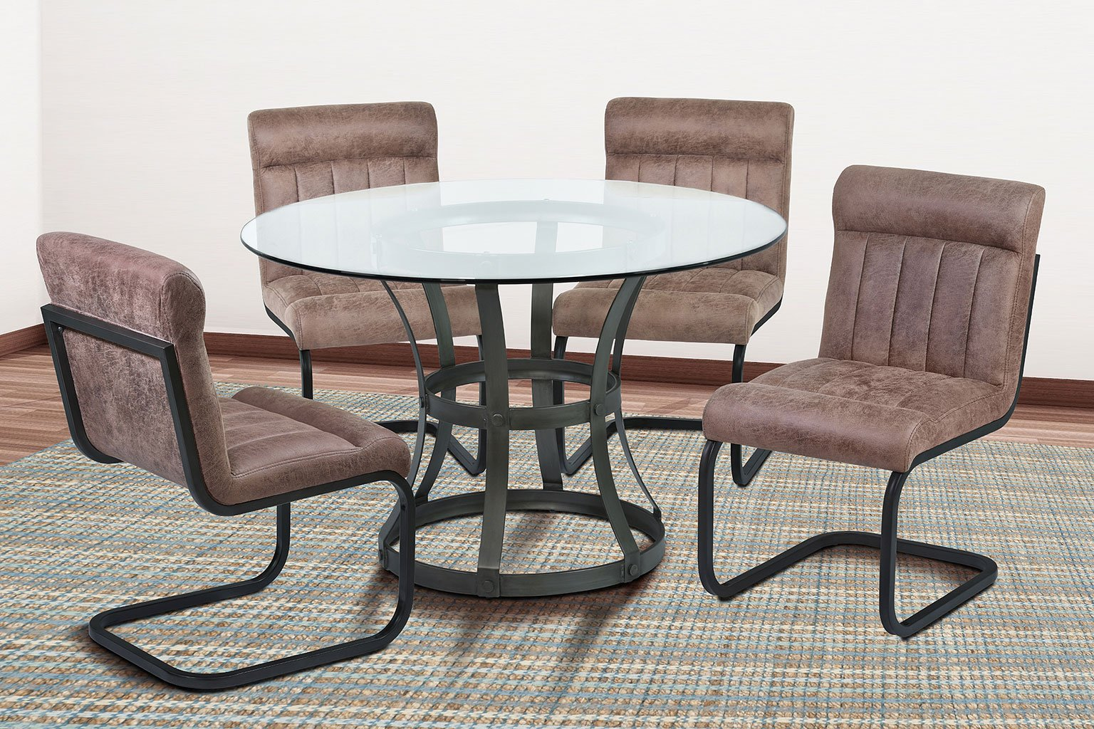 Dining Room Furniture Vancouver: Vancouver Dining Room Set W/ Tobacco Side Chairs (Mineral
