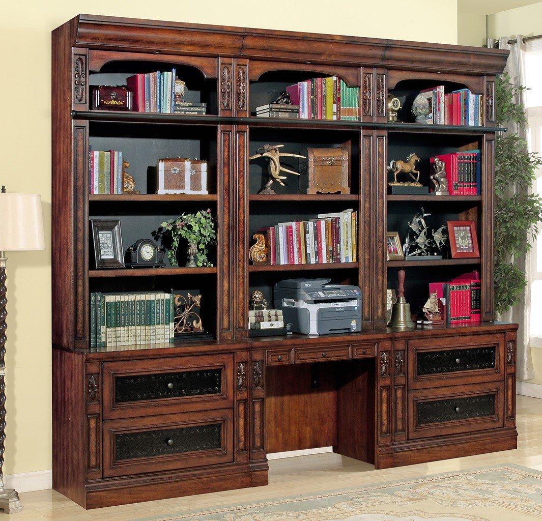 Leonardo Bookcase Wall W Library Desk