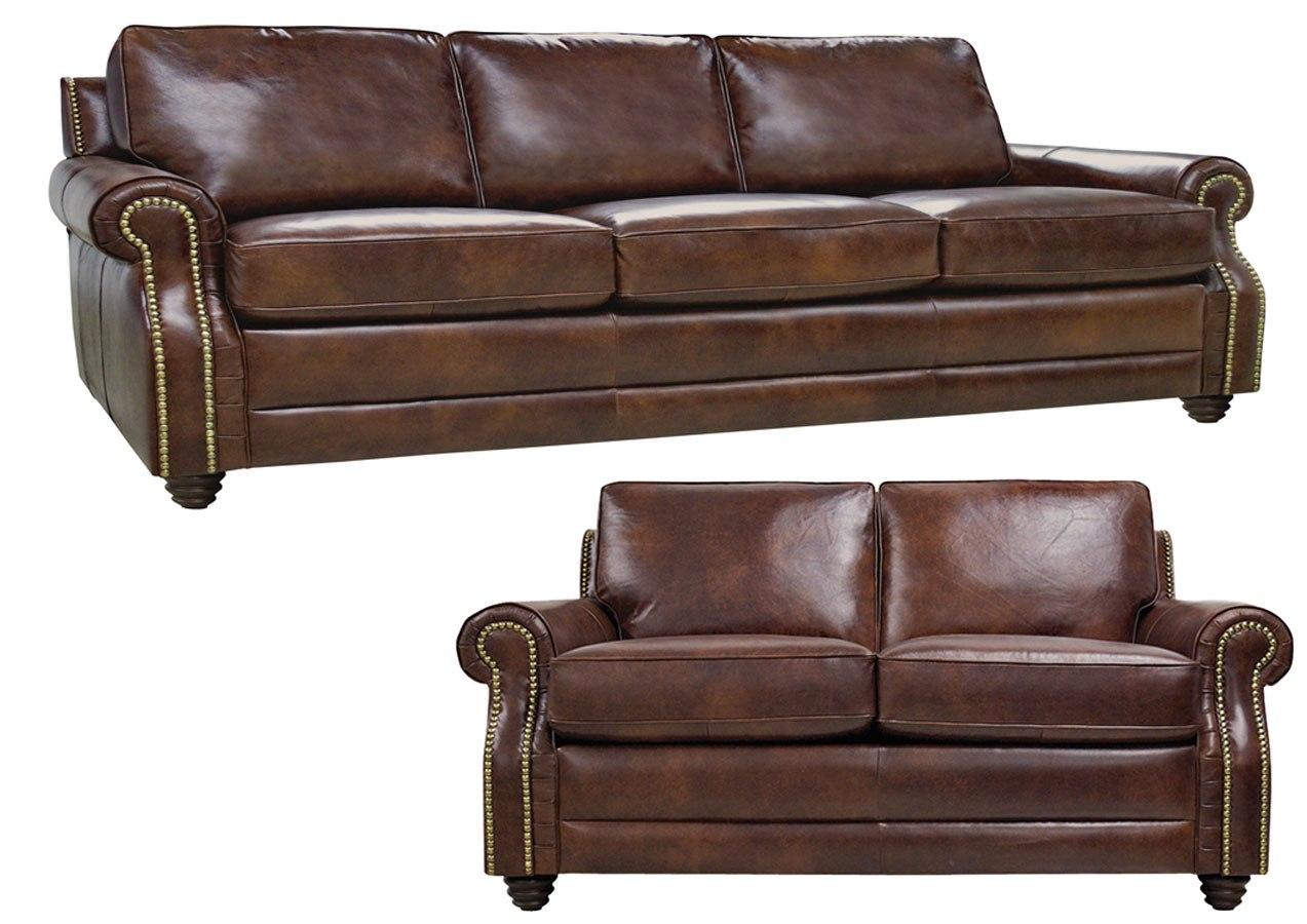 Levi Italian Leather Living Room Set