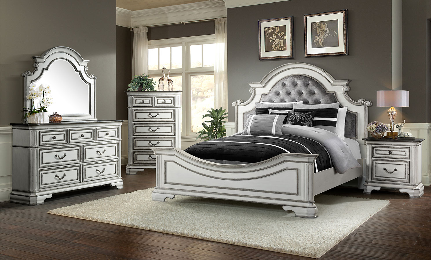 Leighton Manor Panel Bedroom Set Elements Furniture Furniture Cart