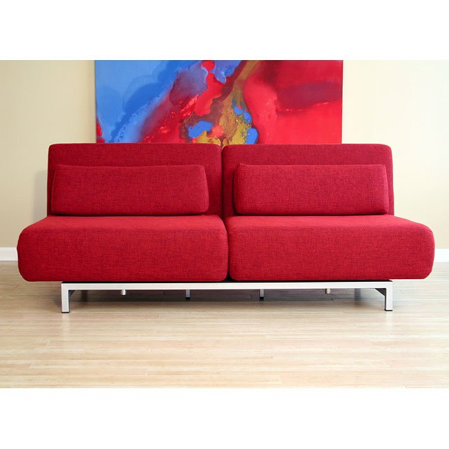 Amiens Convertible Sofa (Red)