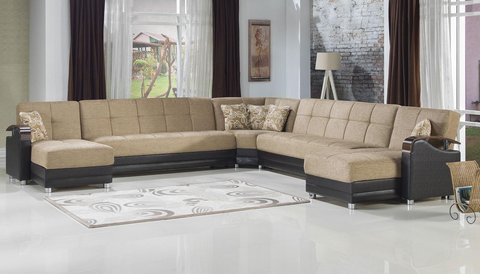 Luna Modular Sectional Fulya Brown Istikbal Furniture