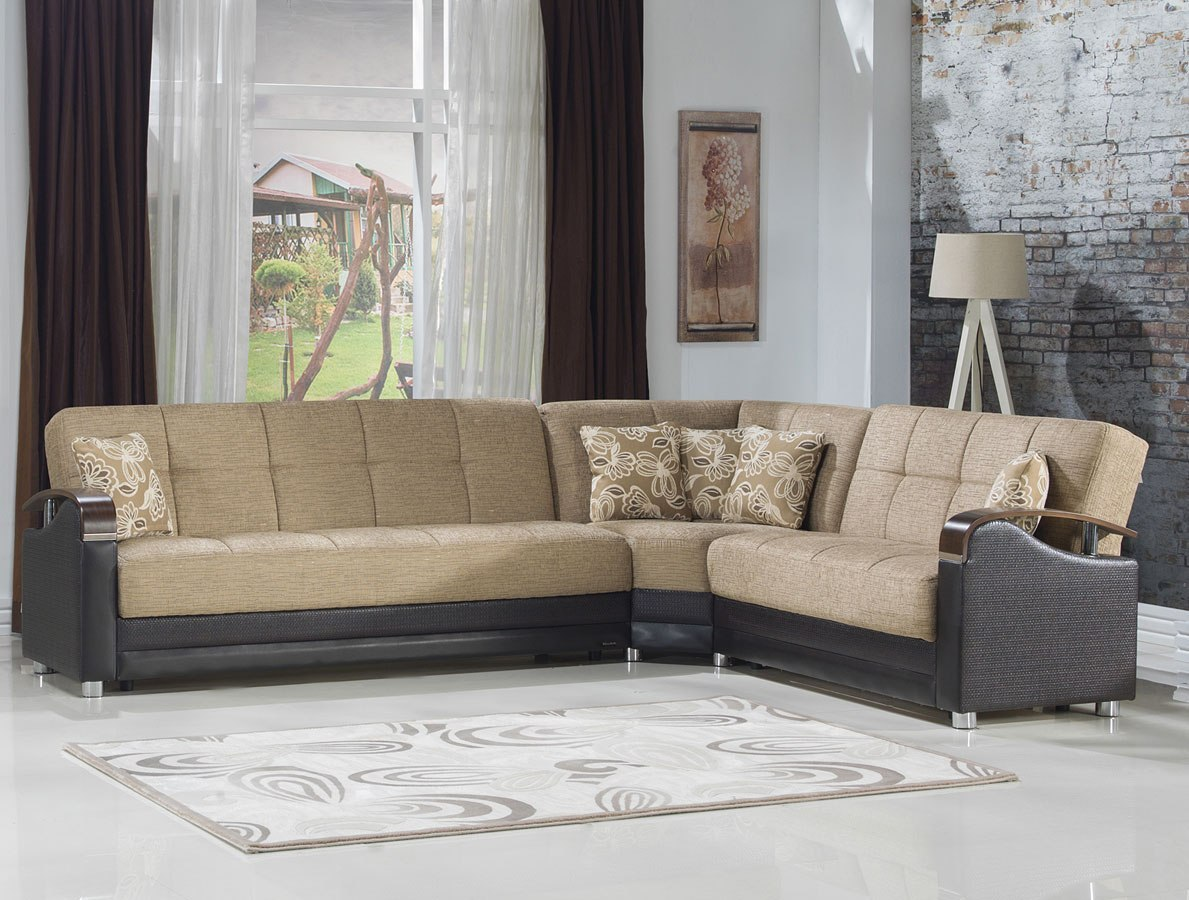 Luna Corner Modular Sectional Fulya Brown Istikbal Furniture