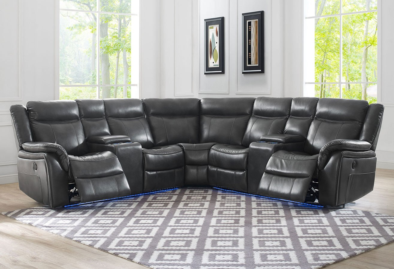 Levin Power Reclining Sectional Steve Silver Furniture Furniture Cart