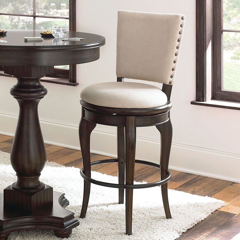 Leona Swivel Pub Chair By Steve Silver Furniture