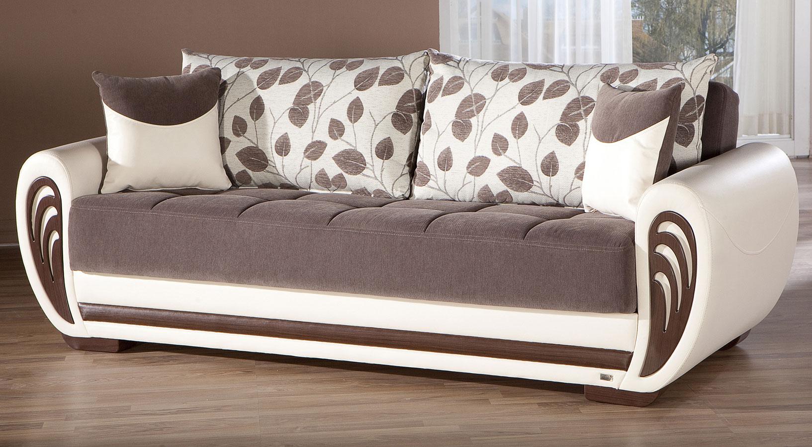 Marina 3 Seat Sleeper Armori Brown Istikbal Furniture Furniture Cart