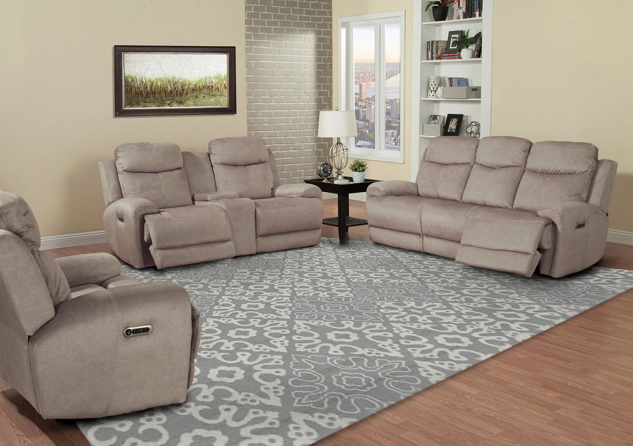Bowie Power Reclining Living Room Set W Power Headrests