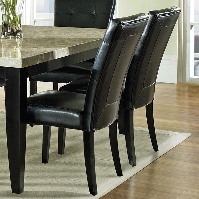 Monarch Parsons Chair (Black) (Set Of 2)