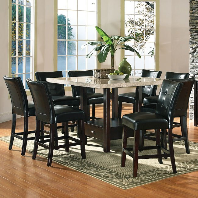 Monarch Counter Height Dinette W/ 54 Inch Storage Table