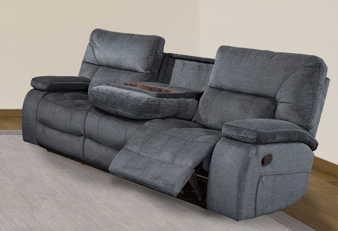 Chapman Dual Reclining Sofa W/ Drop Down Console (Polo)