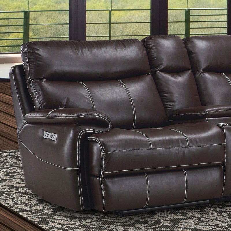 Pleasant Dylan Modular Power Reclining Sectional Set Mahogany Squirreltailoven Fun Painted Chair Ideas Images Squirreltailovenorg