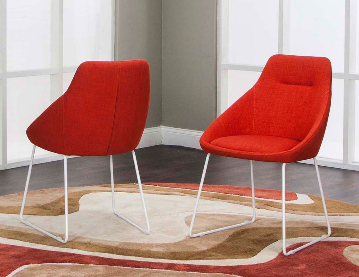 Juliet Poppy Sled Chair (Set Of 2)