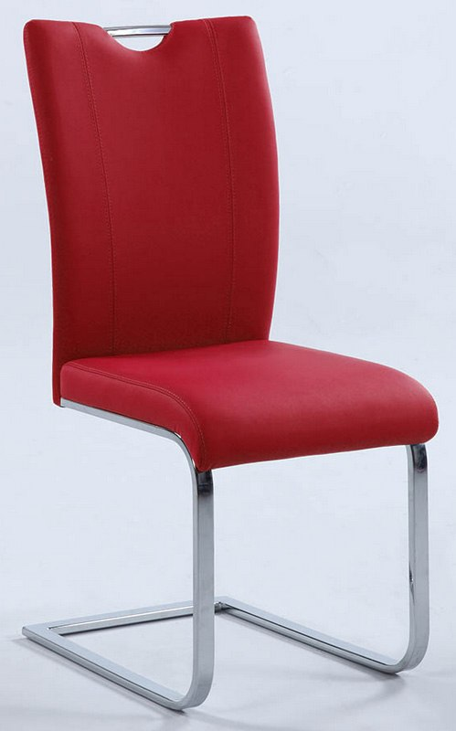 Melissa Side Chair (Red) (Set Of 2) By Chintaly Imports