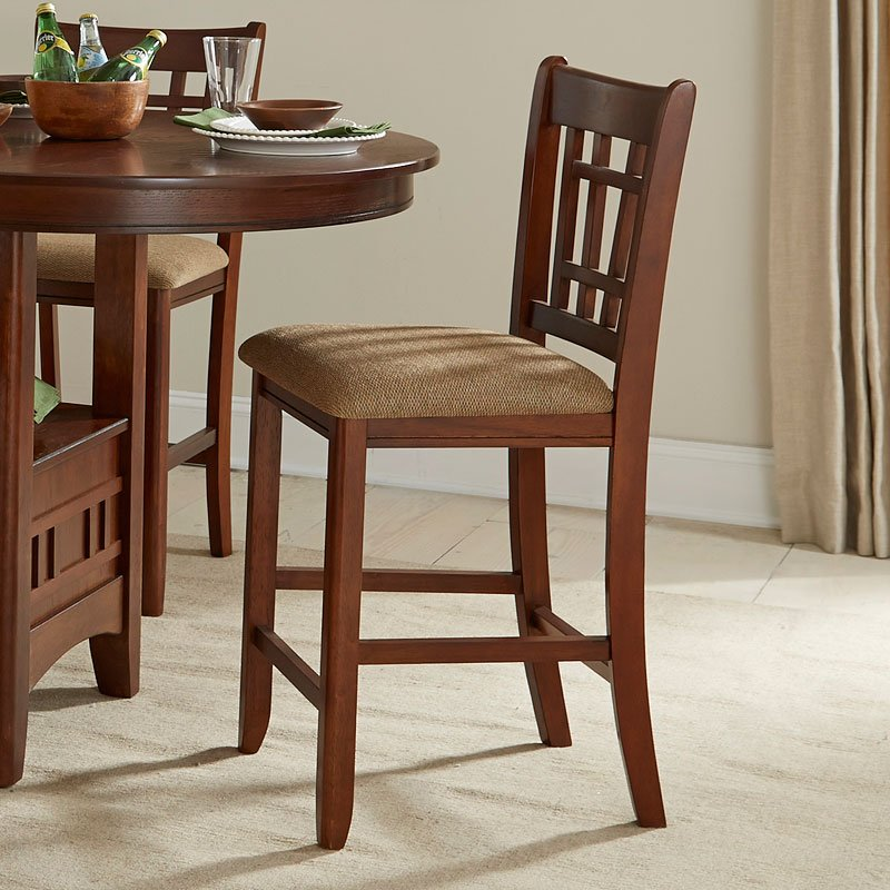 Mission Casual Lattice Counter Chair (Set Of 2) Intercon