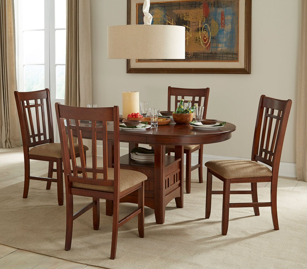 Dining Room Furniture Michigan: Mission Casual Round Dining Room Set Intercon Furniture