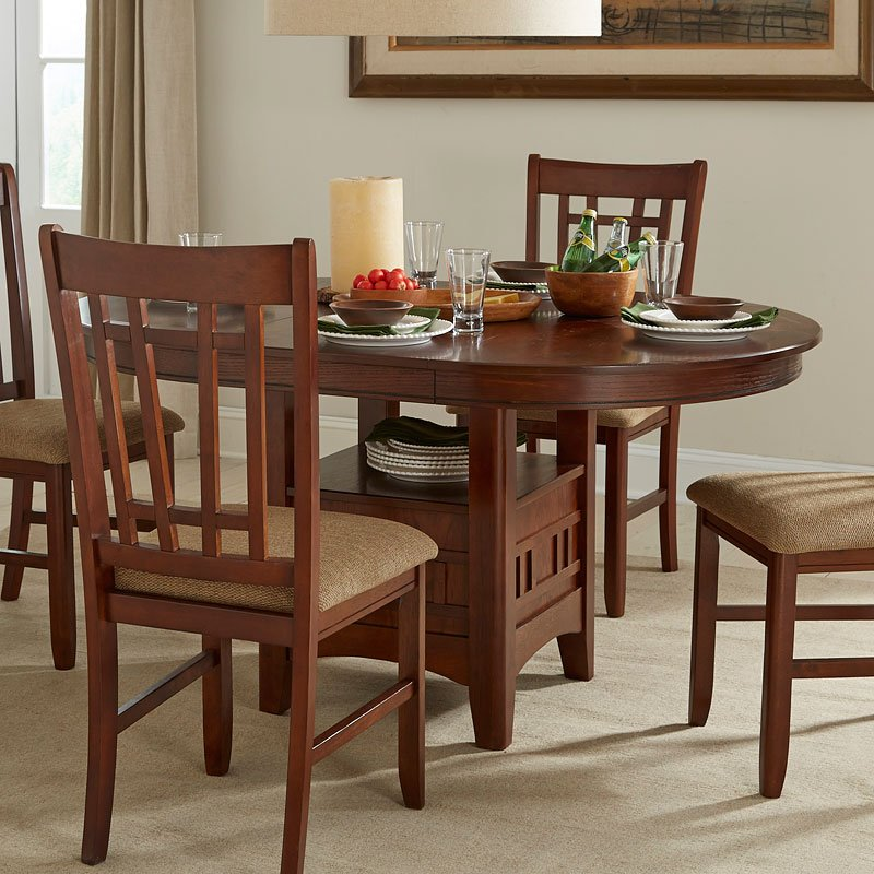 Casual Dining Room Sets: Mission Casual Round Dining Room Set Intercon Furniture