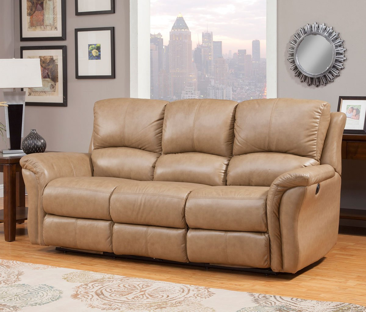 Swell Lewis Power Reclining Sofa Camel Squirreltailoven Fun Painted Chair Ideas Images Squirreltailovenorg