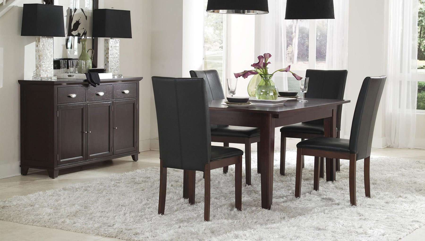 Montreal Dining Room Set W Parson Chairs A America