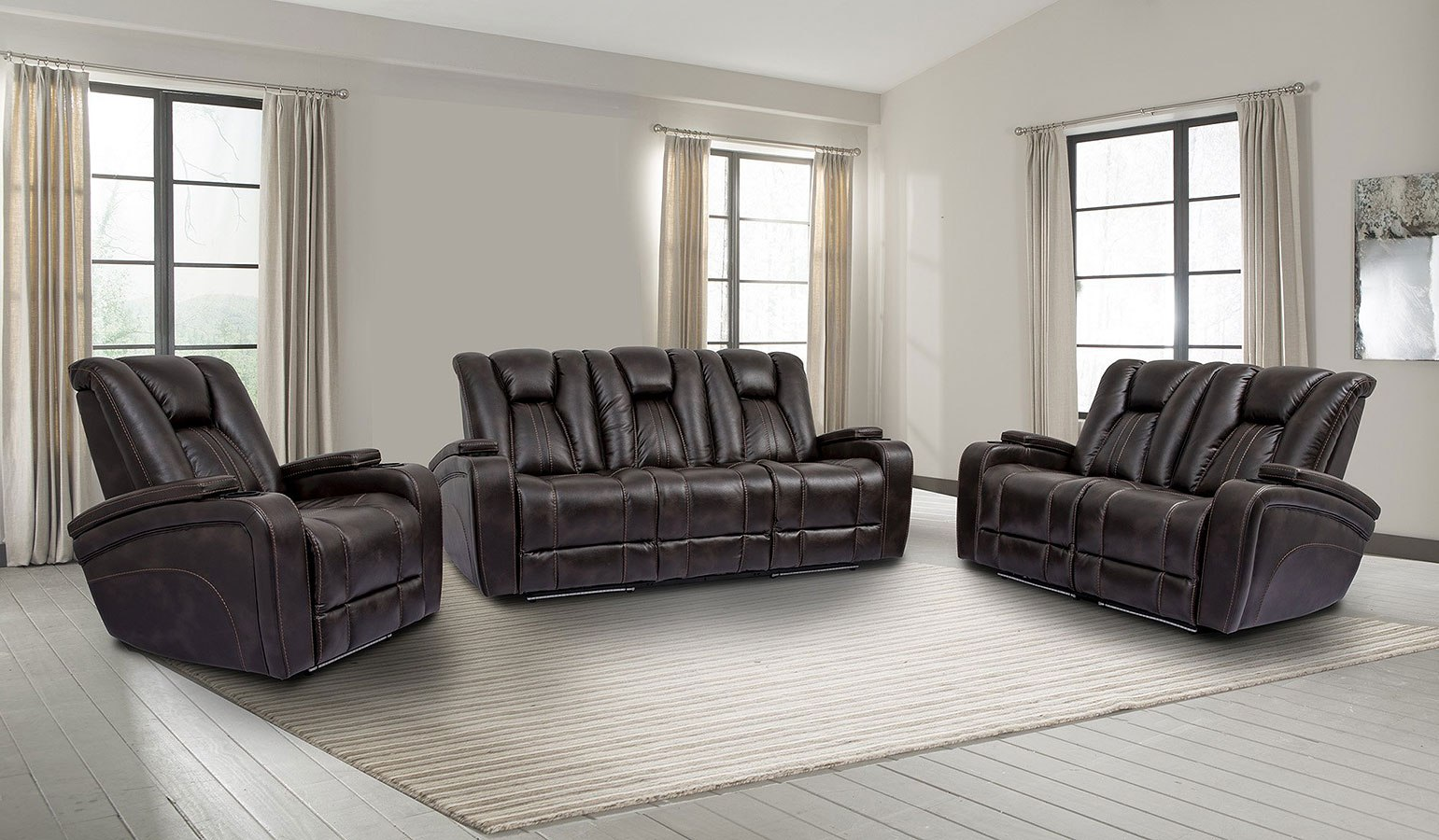 Optimus Power Reclining Living Room Set W Power Headrests