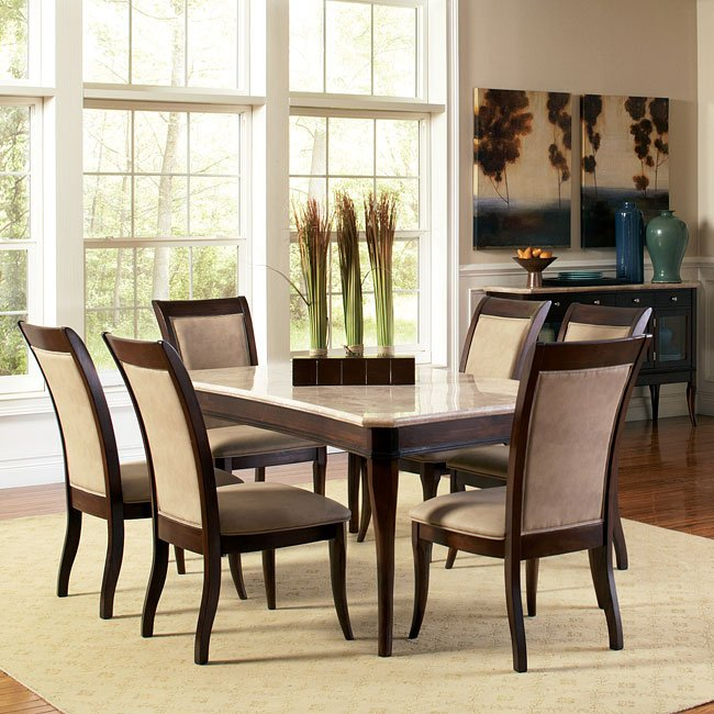 Etonnant Marseille Marble Top Dining Room Set