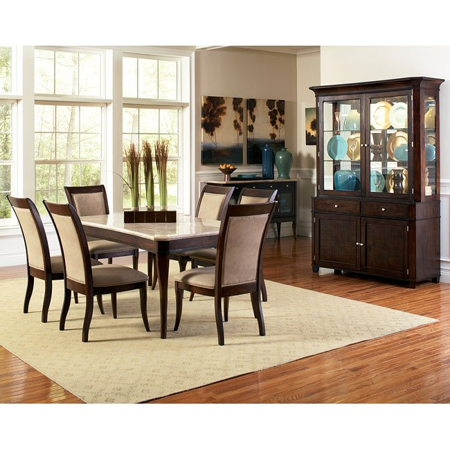 Mille Marble Top Dining Room Set