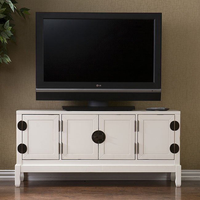 Dynasty Antique White Media Cabinet - Dynasty Antique White Media Cabinet Southern Enterprises Furniture