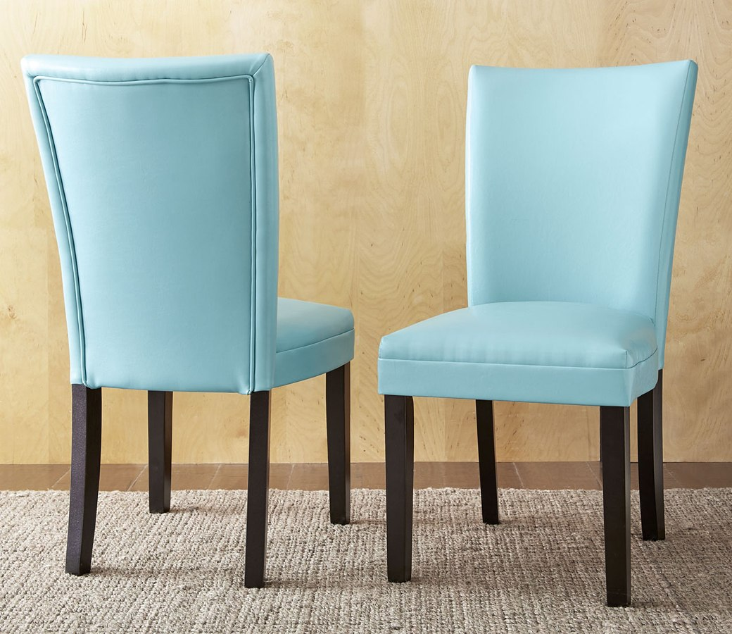 Matinee Dining Room Set W/ Aqua Chairs Steve Silver ...