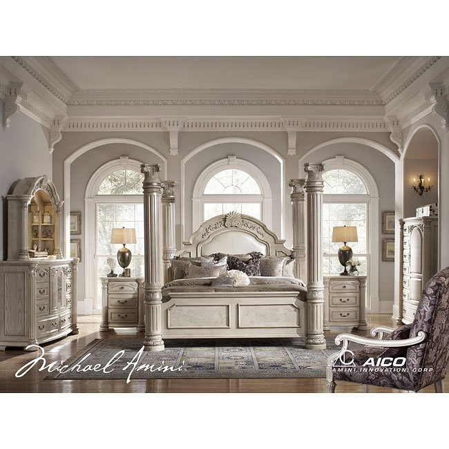 Awesome Monte Carlo II Poster Bedroom Set (Silver Pearl)