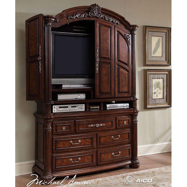 Monte Carlo II Media Cabinet (Cafe Noir) Aico Furniture
