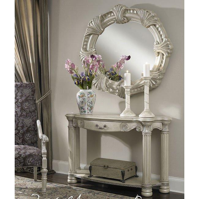 Monte Carlo Ii Living Room Set Silver Pearl Aico