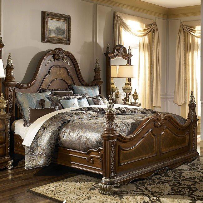 Venetian Ii Poster Bed Aico Furniture Furniture Cart