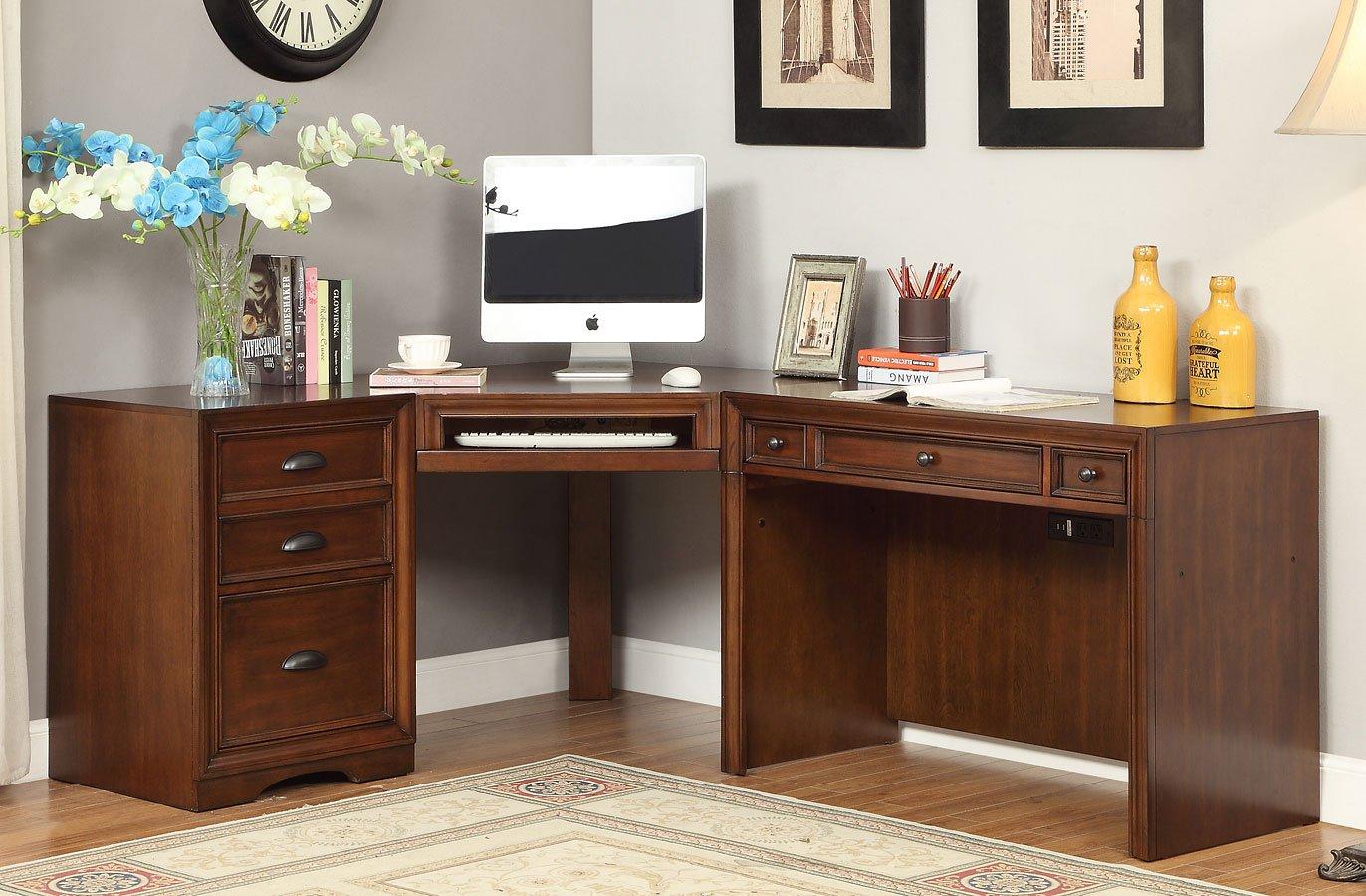 Napa Modular Corner Desk Parker House Furniture Cart