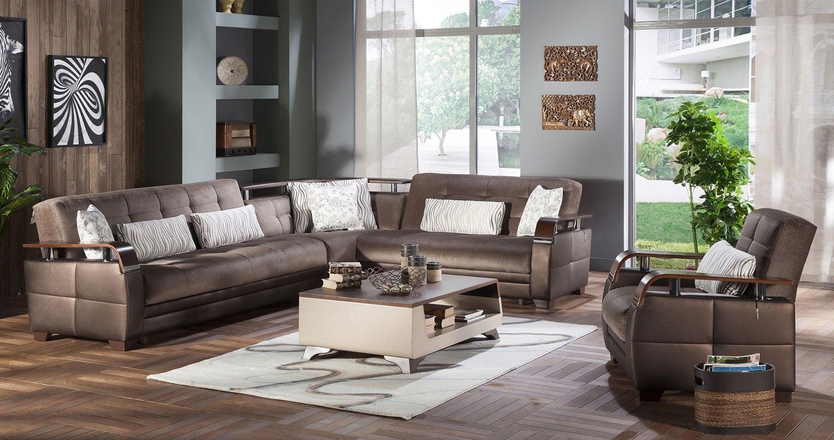 Natural Sectional Set Prestige Brown Istikbal Furniture