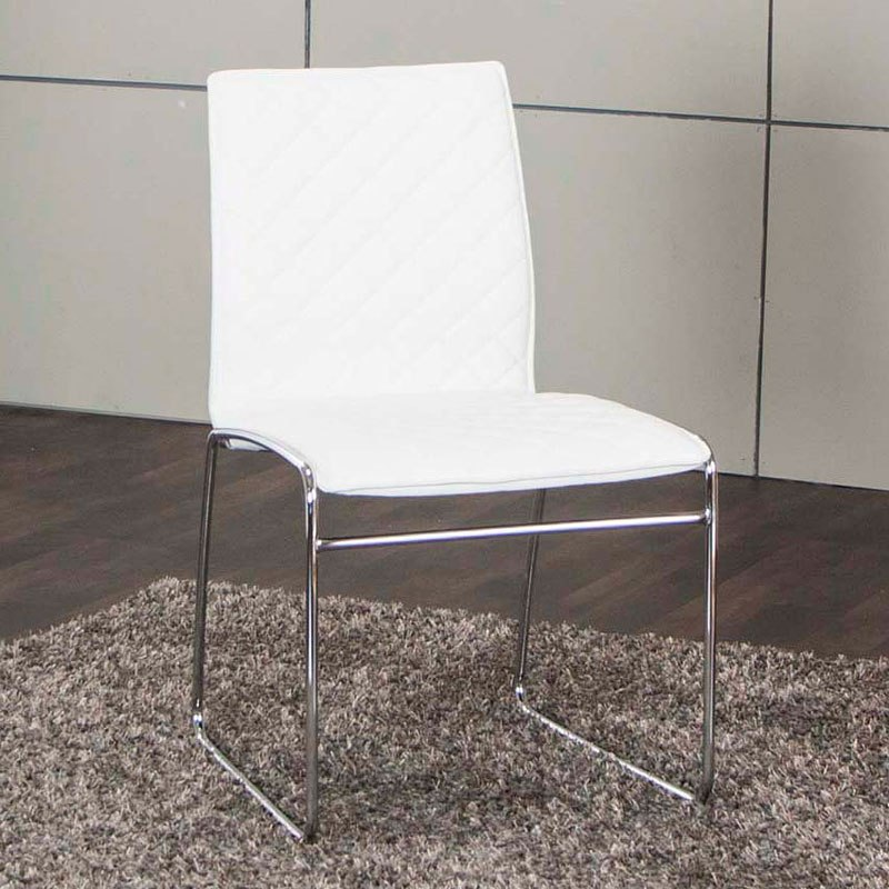 Regal White Side Chair (Set of 4)