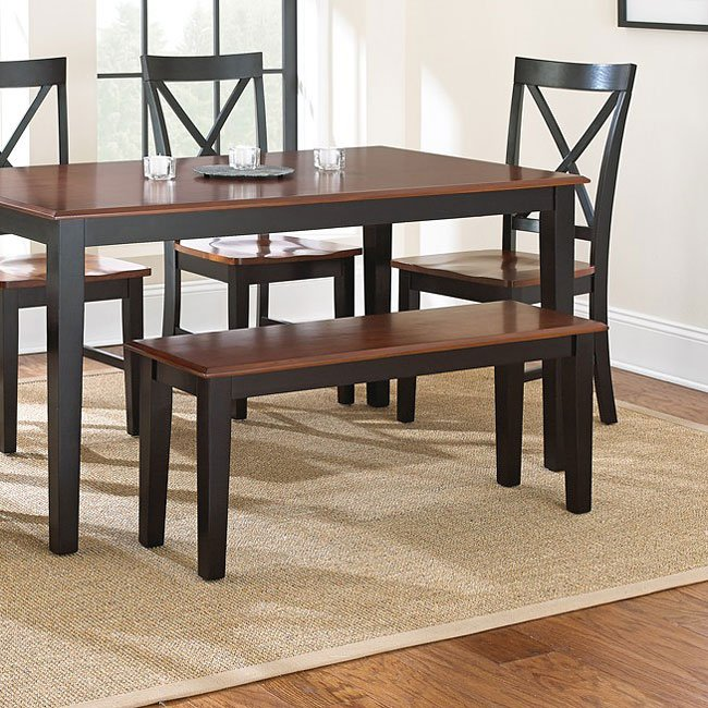Kingston Dining Room Set (Oak/ Black) Steve Silver